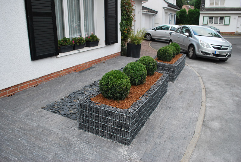 Lambersart gabion d coratif vetiver jardin for Decoration jardin gabion